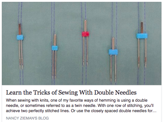 quilting, double sewing needle, needles, tricks